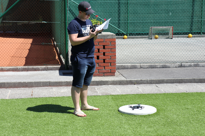 Nik playing with drone